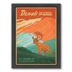 Americanflat National Park Denali Framed Vintage Advertisement