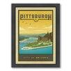 Americanflat Pittsburgh Framed Vintage Advertisement