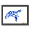 Americanflat Tortoise 2 by Suren Nersisyan Framed Painting Print in Blue