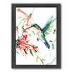 Americanflat Flying Hummingbird Framed Painting Print