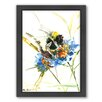 Americanflat Flower Bee by Suren Nersisyan Framed Painting Print