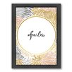 Americanflat Fearless Framed Graphic Art