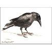 Americanflat Crow by Suren Nersisyan Painting Print