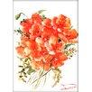 Americanflat Flowers 2 by Suren Nersisyan Painting Print in Orange