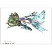 Americanflat Guppy Fish by Suren Nersisyan Painting Print