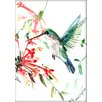 Americanflat Flying Hummingbird by Suren Nersisyan Painting Print