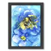 Americanflat Bee by Suren Nersisyan Framed Painting Print in Blue