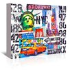 Americanflat NYC Collage numbers Graphic Art on Gallery Wrapped Canvas