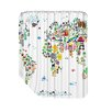 Americanflat World Animal Map 1 Shower Curtain
