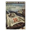 Americanflat Mercedes Vintage Graphic Art Unwrapped Canvas