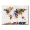 Americanflat World Map Watercolor Wall Mural