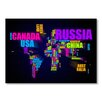 Americanflat World Word Map Wall Mural