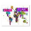 Americanflat Paint Splashes Text Map of the World Wall Mural
