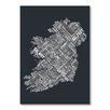 Americanflat Word Map Ireland Wall Mural