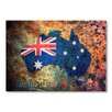Americanflat Australia Flag Map Wall Mural