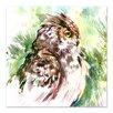 Americanflat Big Horned Owl Square by Suren Nersisyan Original Painting