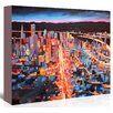Americanflat 'San Francisco Market Street 1' by M Bleichner Original Painting on Wrapped Canvas