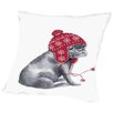 Americanflat Frenchie sitting Throw Pillow