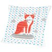 Americanflat Orange Holiday Cat Throw Pillow