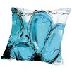Americanflat Fleurs Turquoises Throw Pillow