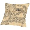 Americanflat Old Colony Railroad Cape Cod Map Throw Pillow