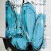 Americanflat Fleurs Turquoises Shower Curtain