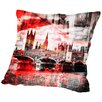 Americanflat City Art London Red Bus Composing Throw Pillow