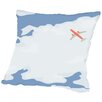 Americanflat Sky with Plane Throw Pillow