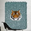 Americanflat Tiger Cat Glitter Sparkly Shower Curtain