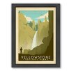 Americanflat National Park Yellowstone 02 Framed Vintage Advertisement