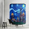 Americanflat Starry Night in St Petersburg Russia Shower Curtain