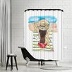 Americanflat Do Not Disturb Shower Curtain