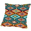 Americanflat Tribal African Fabric Pattern Outdoor Throw Pillow