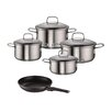 Rohe Germany Quattro Viviena + Novara 5-Piece Stainless Steel Cookware Set