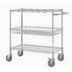 "Excel Hardware 40"" Three Shelf Heavy Duty Commercial Grade Shelving Cart"
