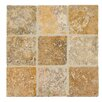 MS International Tuscany Scabas 4'' x 4'' Travertine Field Tile in Tumbled Yellow