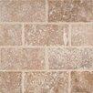 "MS International Tuscany Walnut 3"" x 6'' Travertine Subway Tile in Tumbled Brown"