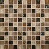 MS International Pacific Dunes Mounted Blend Glass Mosaic Tile in Brown