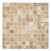 "MS International Tuscany Scabas 2"" x 2"" Travertine Mosaic Tile in Gold"