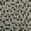 """MS International Orion Blend 0.63"""" x 0.63"""" Glass and Natural Stone Mosaic Tile in Multi"""