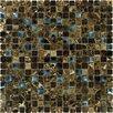 MS International Crystallized 0.625'' x 0.625 Glass Mosaic Tile in Emperador Dark Blend