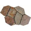 MS International California Random Sized Slate Mosaic Tile in Multi Color