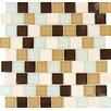 "MS International Desert Mirage Mounted 1.25"" x 1.25"" Glass Stone Mosaic Tile in Multi"