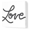 "Avalisa Imaginations ""Love"" Textual Art on Wrapped Canvas"