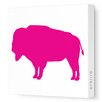 Avalisa Silhouettes Buffalo Stretched Canvas Art