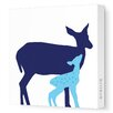 Avalisa Animals Doe Stretched Canvas Art