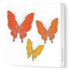 Avalisa Animals Butterfly Stretched Canvas Art