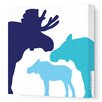 Avalisa Animals Moose Stretched Canvas Art