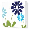 Avalisa Imaginations Simple Floral Stretched Canvas Art