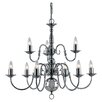 Impex Lighting Flemish 9 Light Candle-Style Chandelier